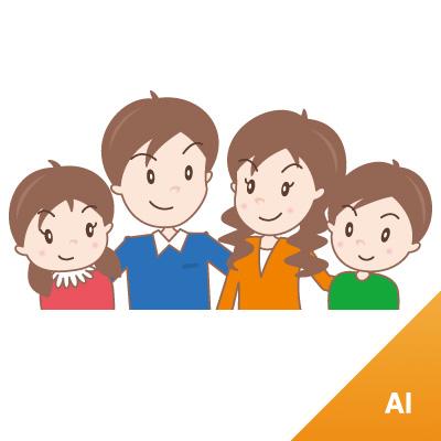 256 家族 素材カテゴリー: イラスト 人物 家族の無料(フリー)素材です。... 家族 :