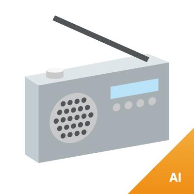 298 ラジオ 素材カテゴリー: イラスト|道具 ラジオの無料(フリー)素材で... ラジオ :